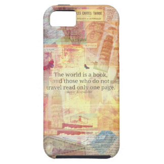 St. Augustine  World is a Book travel quote iPhone 5 Cover