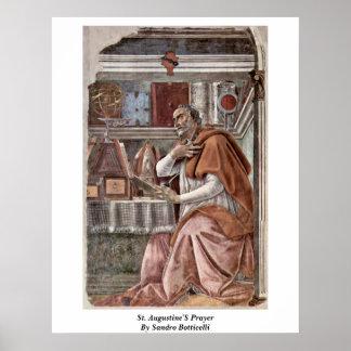 St. Augustine'S Prayer By Sandro Botticelli Poster