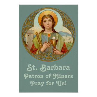 "St. Barbara (BK 001) 11""x16.5"" Poster #1"