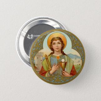 St. Barbara (BK 001) 6 Cm Round Badge