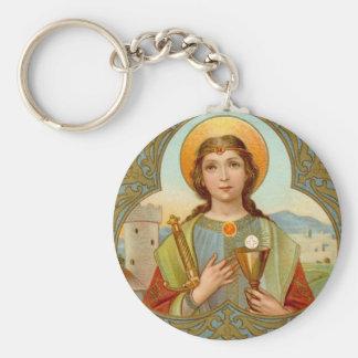 St. Barbara (BK 001) Basic Button Key Ring