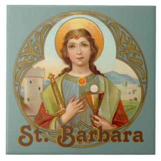 St. Barbara (BK 001) Ceramic Tile #1