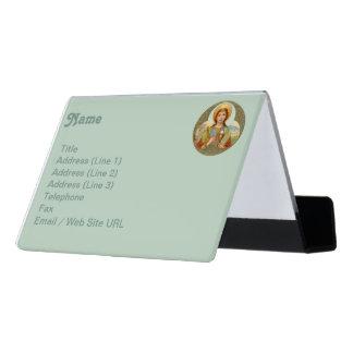 St. Barbara (BK 001) Desk Business Card Holder