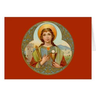 St. Barbara (BK 001) Horizontal Card