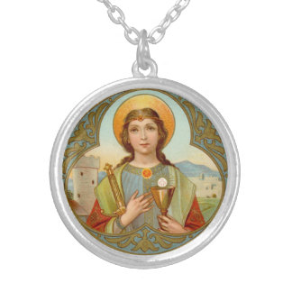 St. Barbara (BK 001) Silver Plated Necklace