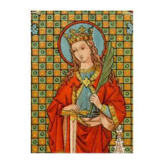 "St. Barbara (JP 01) 10""x14"" Acrylic Wall Art"