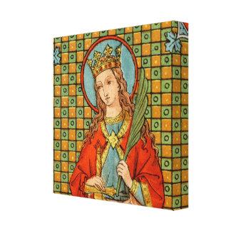 """St. Barbara (JP 01) 12""""x12""""x1.5"""" Square Canvas Print"""
