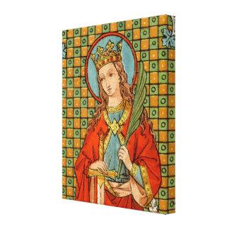 """St. Barbara (JP 01) 16""""x20""""x1.5"""" Canvas Print"""
