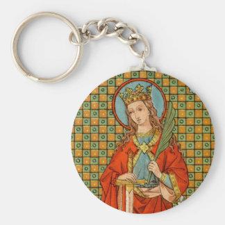 St. Barbara (JP 01) Basic Button Key Ring