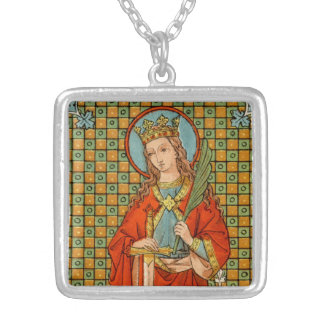St. Barbara  (JP 01) Silver Plated Necklace