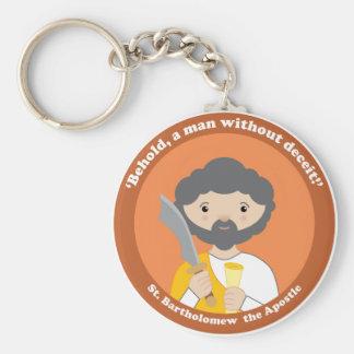 St. Bartholomew the Apostle Basic Round Button Key Ring