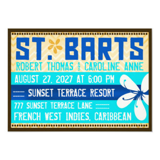 ST. BARTS Destination Invitation