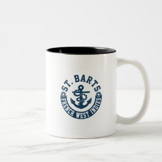 St. Barts French West Indies Two-Tone Coffee Mug