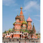 St. Basil cathedral in Moscow Standing Photo Sculpture