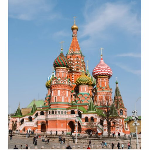 St. Basil cathedral in Moscow Acrylic Cut Out