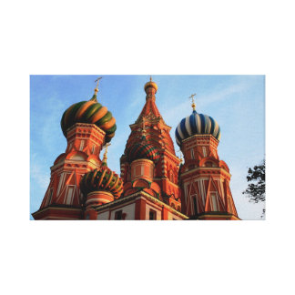 St Basil Cathedral Moscow Russia Canvas Print