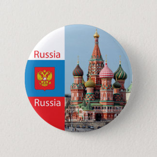 St. Basil cathedral. Russia 6 Cm Round Badge