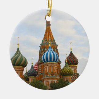 St. Basil's Cathedral in Red Square, Moscow Round Ceramic Decoration