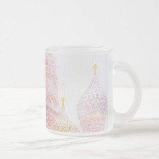St Basil's Cathedral In Snowstorm Frosted Glass Coffee Mug