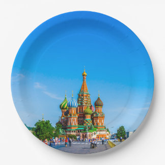 St. Basil's cathedral Paper Plate