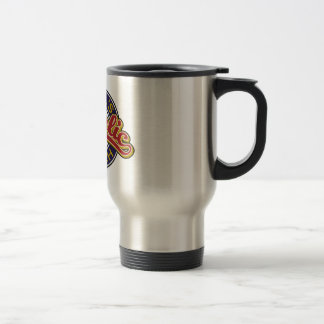 St. Basil's red on blue Stainless Steel Travel Mug