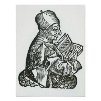 St. Bede  from 'Liber Chronicarum' Poster