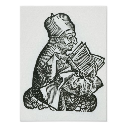 St. Bede  from 'Liber Chronicarum' Print