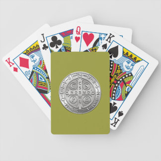St Benedict Cross Medal Bicycle Playing Cards