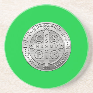 St Benedict Cross Medal Coaster
