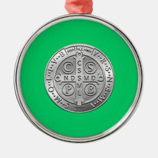 St Benedict Cross Medal Metal Ornament