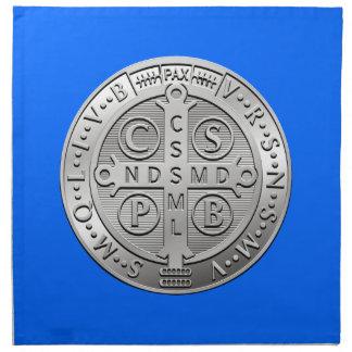 St Benedict Cross Medal Napkin