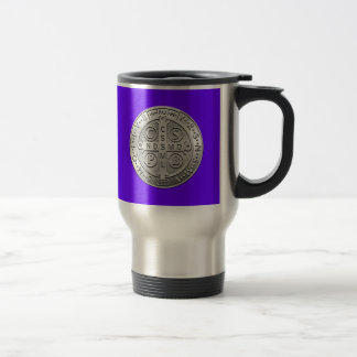 St Benedict Cross Medal Travel Mug