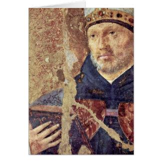 St. Benedict Detail By Antonello Da Messina Card