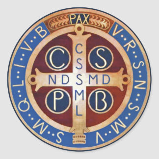 St. Benedict Exorcism Medal Stickers