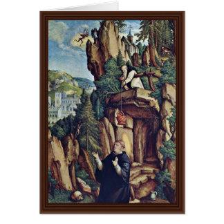 St. Benedict In Prayer By Meister Von Meßkirch (Be Card
