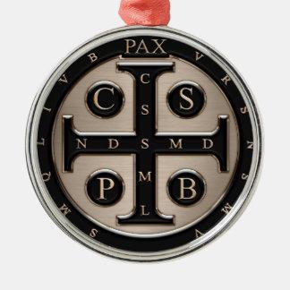 St. Benedict Medal Metal Ornament