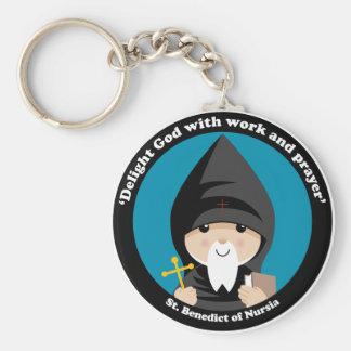 St Benedict of Nursia Basic Round Button Key Ring