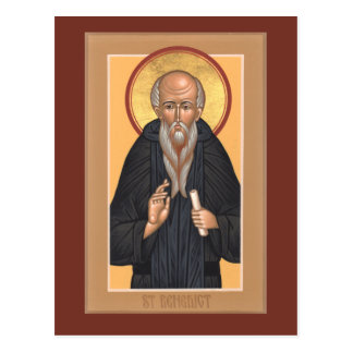 St. Benedict Prayer Card Postcard