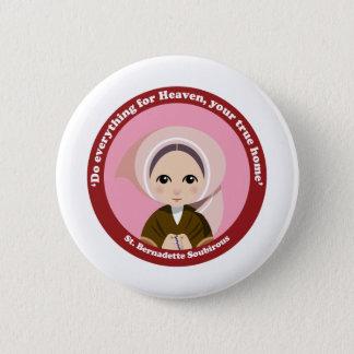 St. Bernadette Soubirous 6 Cm Round Badge