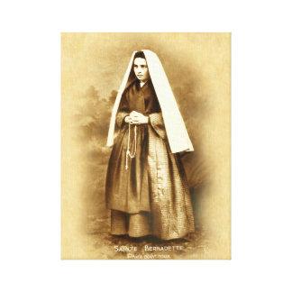 St. Bernadette Soubirous Devotional Image. Canvas Print