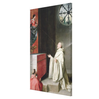 St. Bernard and the Virgin Gallery Wrap Canvas
