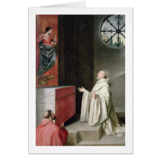 St. Bernard and the Virgin Greeting Card