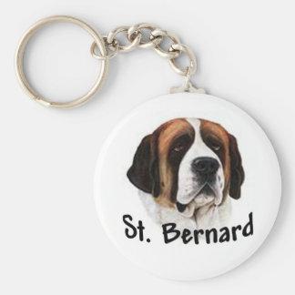 St Bernard Basic Round Button Key Ring