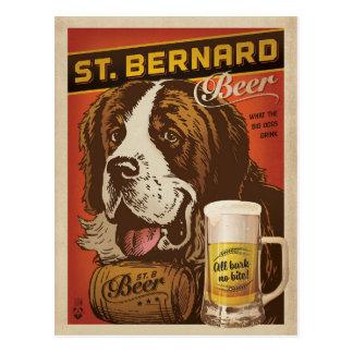 St. Bernard Beer Postcard
