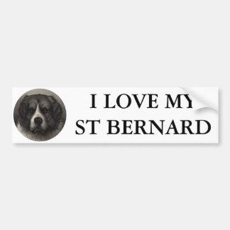 St Bernard Car Bumper Sticker