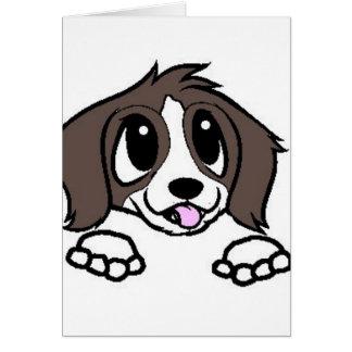 st bernard cartoon peeking card