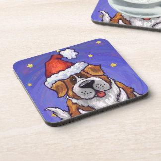St. Bernard Christmas Coasters