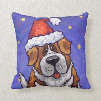 St. Bernard Christmas Cushions