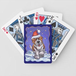 St. Bernard Christmas Poker Cards