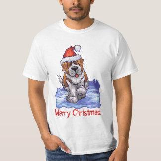 St. Bernard Christmas Tee Shirt